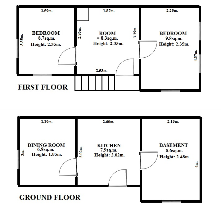 Floorplan Stripe House (click to view)