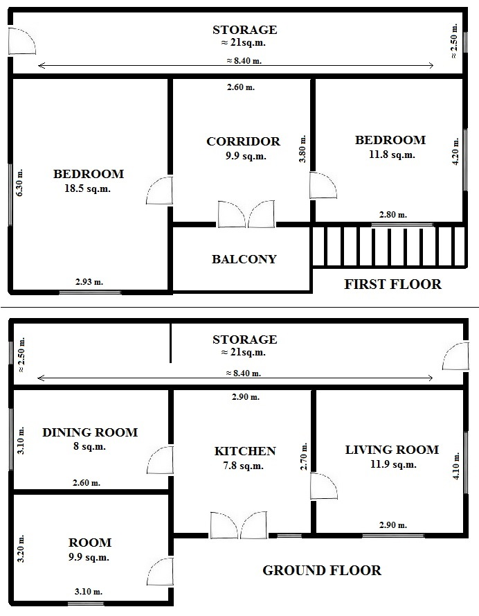 Floorplan Grayhound House (click to view)
