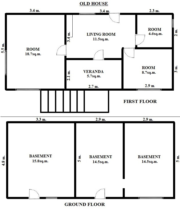 Floorplan Mayfar Pro Houses - Old House (click to view)